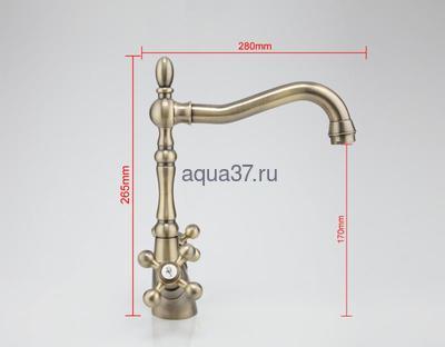Смеситель для кухни Frap F4019-4 (фото, вид 10)