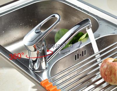 Смеситель для кухни Frap F4504-2 (фото, вид 3)