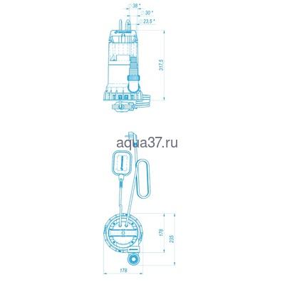Дренажный насос 220/12 Дренажник Джилекс (фото, вид 1)