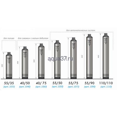 Скважинный насос Водомёт Проф 110/110 ок Джилекс (фото, вид 4)
