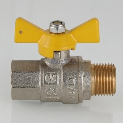 """Кран газовый 1/2"""" г/ш бабочка Valgas Valtec (фото, вид 6)"""