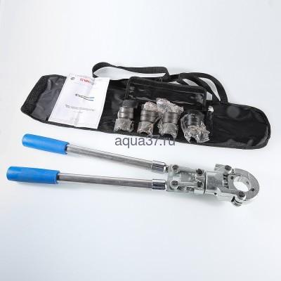 Пресс инструмент ручной с комплектом насадок 16-20-26-32 Valtec (фото, вид 1)