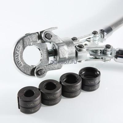 Пресс инструмент ручной с комплектом насадок 16-20-26-32 Valtec (фото, вид 2)
