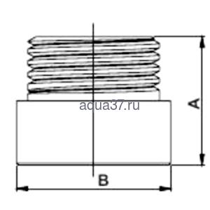 """Удлинитель 20 мм хромированный 3/4"""" Frap (фото, вид 1)"""