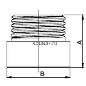 """Удлинитель 80 мм хромированный 1/2"""" Frap (фото, вид 1)"""