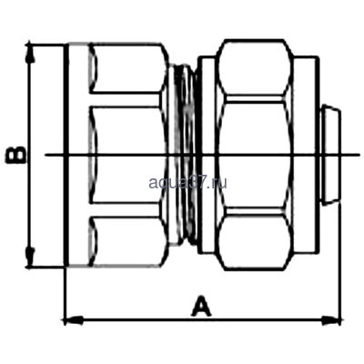 """Обжимная муфта 26 x 3/4"""" с внутренней резьбой Frap (фото, вид 1)"""