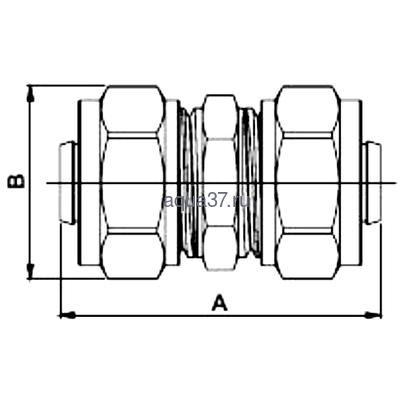 Обжимная муфта 32 Frap (фото, вид 1)