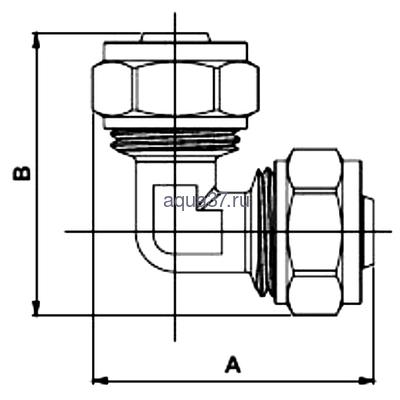 Обжимной угольник 20 x 16 Frap (фото, вид 1)