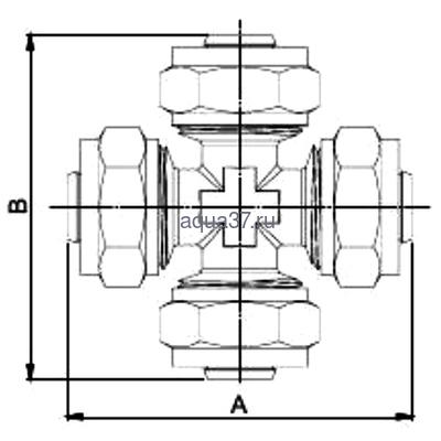 Обжимная крестовина 20 Frap (фото, вид 1)