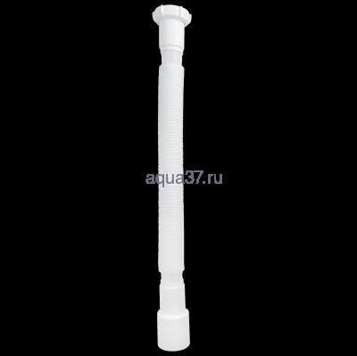 "Гибкая труба с гайкой 1 1/2"" x 40/50 удлинённая T113 Аквант (фото, вид 1)"