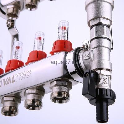 Группа с расходомерами 10 выходов нержавейка Valtec (фото, вид 7)