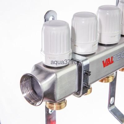 Группа с расходомерами 5 выходов нержавейка Valtec (фото, вид 4)