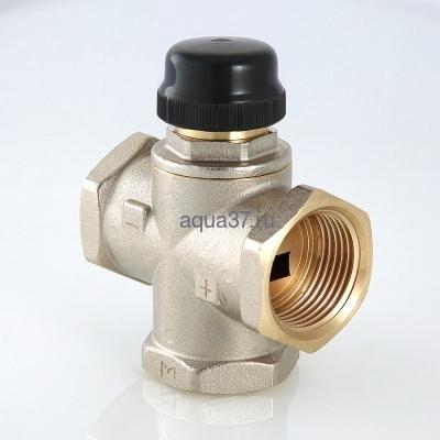 """Клапан трехходовый смесительный 1"""" с центральным смешиванием Valtec (фото, вид 1)"""