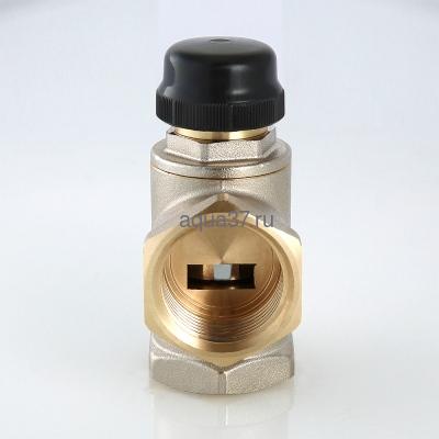 """Клапан трехходовый смесительный 1"""" с центральным смешиванием Valtec (фото, вид 2)"""