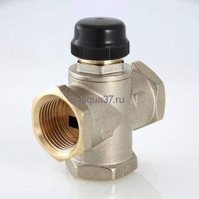 """Клапан трехходовый смесительный 1"""" с центральным смешиванием Valtec (фото, вид 3)"""