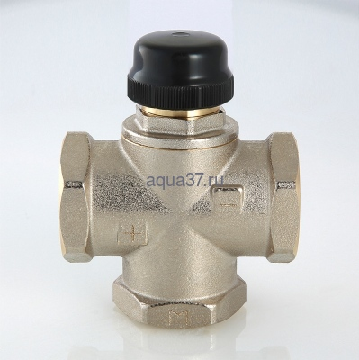 """Клапан трехходовый смесительный 1"""" с центральным смешиванием Valtec (фото, вид 4)"""