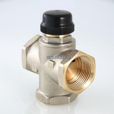 """Клапан трехходовый смесительный 1"""" с центральным смешиванием Valtec (фото, вид 5)"""