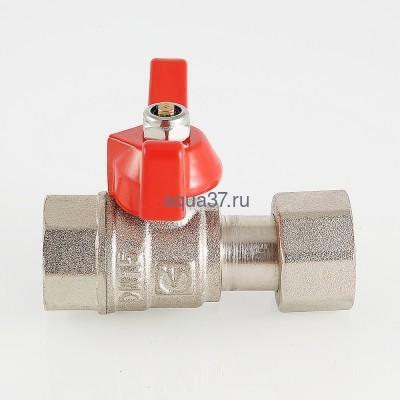 """Кран шаровой для подключения манометра 1/2"""" вн x 1/4"""" вн Valtec (фото, вид 3)"""