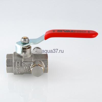 """Кран шаровой с дренажем и воздухоотводчиком 1"""" г/г Valtec (фото, вид 7)"""