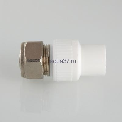 Соединитель коллекторный полипропиленовый 20 для РЕХ трубы 16 Valtec (фото, вид 3)