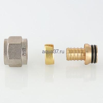 """Соединитель коллекторный обжимной для PEX трубы 16 х 1/2"""" Valtec (фото, вид 7)"""