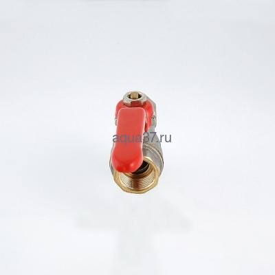 """Кран шаровой с фильтром 1/2"""" г/г ручка Valtec (фото, вид 5)"""