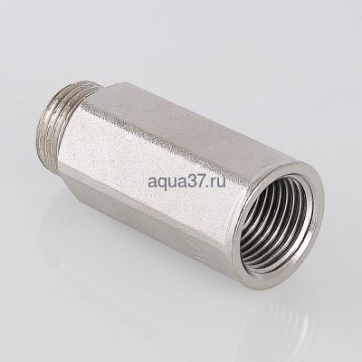 """Удлинитель 40 мм никелированный 1/2"""" Valtec (фото, вид 1)"""
