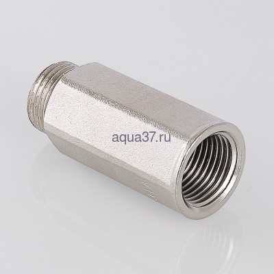 """Удлинитель 15 мм никелированный 1/2"""" Valtec (фото, вид 1)"""