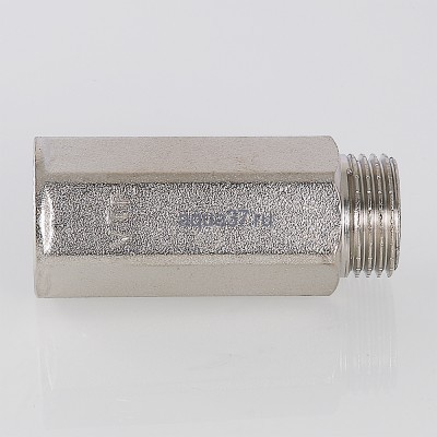 """Удлинитель 15 мм никелированный 1/2"""" Valtec (фото, вид 4)"""