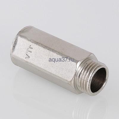 """Удлинитель 20 мм никелированный 1/2"""" Valtec (фото, вид 5)"""