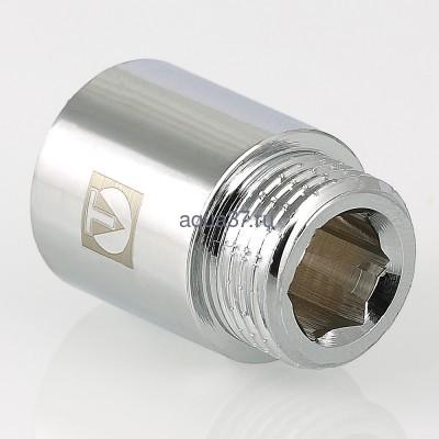 """Удлинитель 50 мм хромированный 1/2"""" Valtec (фото, вид 1)"""