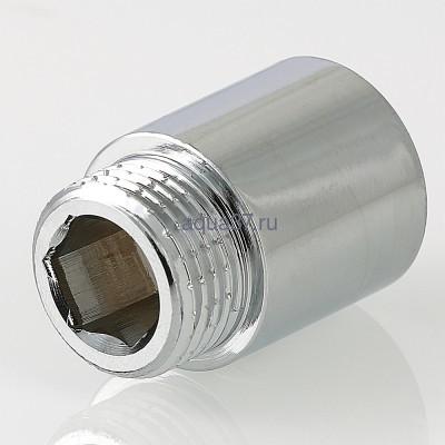 """Удлинитель 50 мм хромированный 1/2"""" Valtec (фото, вид 3)"""