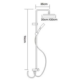 Душевая система Frap F2405 (фото, вид 1)