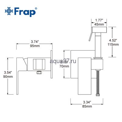 Смеситель для биде Frap F7506 (фото, вид 6)