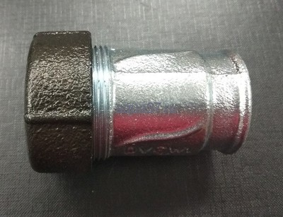 """Обжимной соединитель для стальных труб тип IK с внутренней резьбой 1/2"""" AGA (фото, вид 1)"""