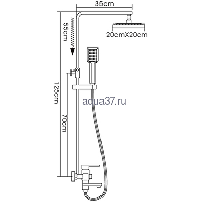 Душевая система Frap F2421 (фото, вид 1)