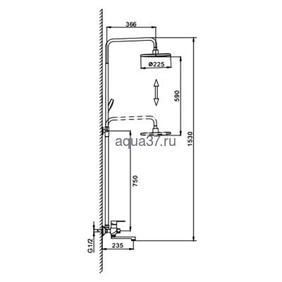 Душевая система Frap F2441 (фото, вид 1)