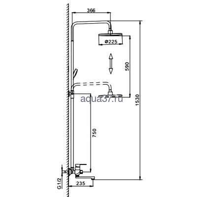 Душевая система Frap F2442 (фото, вид 1)