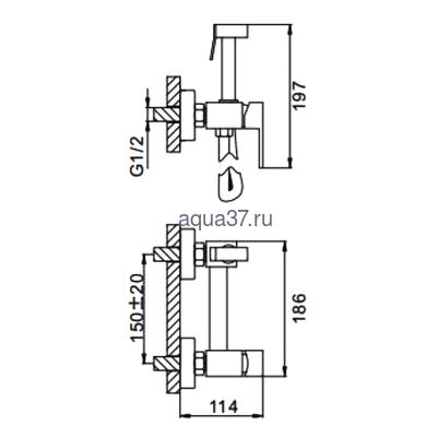 Смеситель для биде Frap F7504 (фото, вид 5)
