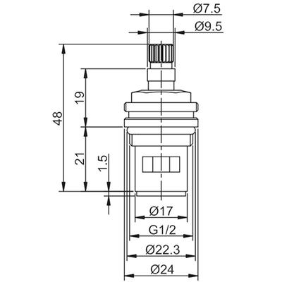 Кран-букса Frap F52-12 180° 20 шлицов (фото, вид 1)