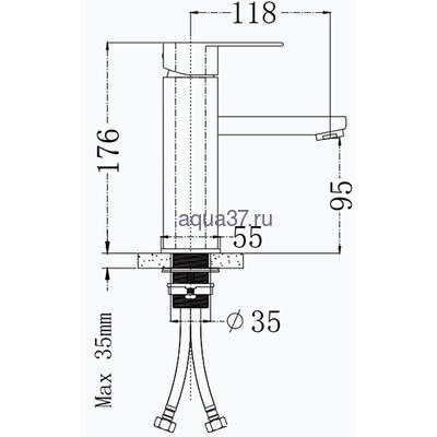 Смеситель для раковины Frap F10805 (фото, вид 1)