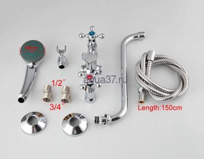 Смеситель для ванны Frap F2208-2 (фото, вид 5)