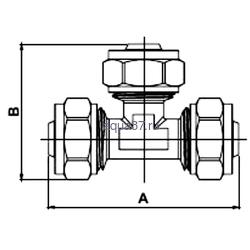 Обжимной тройник 16 x 20 x 16 Frap. Вид 2