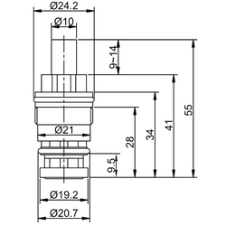 Кран-букса Frap F52-11 кнопка. Вид 2