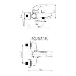 Смеситель для ванны Rubineta Forte-10. Вид 2