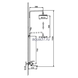 Душевая система Frap F2441. Вид 2