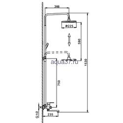 Душевая система Frap F2442. Вид 2