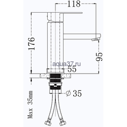 Смеситель для раковины Frap F10805. Вид 2