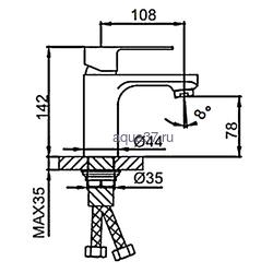 Смеситель для раковины Frud R10131. Вид 2