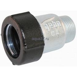 """Обжимной соединитель для стальных труб тип АK с наружной резьбой 1/2"""" AGA"""